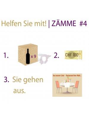 ZÄMME #4 • 6er- FESTTAGSWEIN-PAKET • mit RESTAURANT-GUTSCHEIN CHF 100