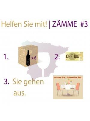 ZÄMME #3 • 6er- WEINPAKET • mit RESTAURANT-GUTSCHEIN CHF 100